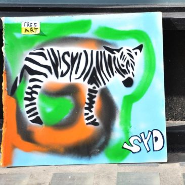 Zebra Tag, Free Art on wood